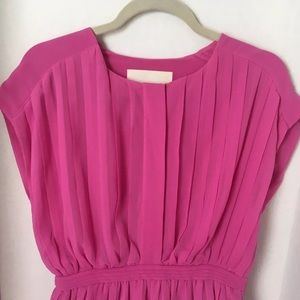 J. Crew Collection Pink Pleated Dress